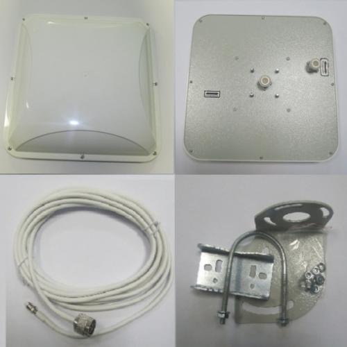 Антенна панельная направленная MIMO 3G / 4G LTE, 14-15 дБ (1700-2700 МГц)