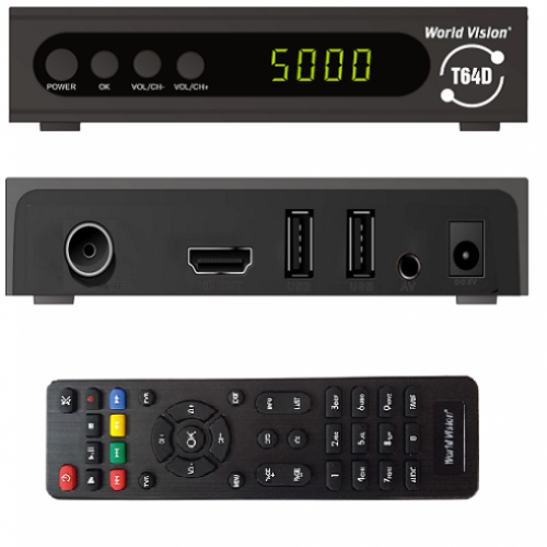 Приемник для цифрового ТВ World Vicion T64D