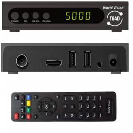 Приемник для цифрового ТВ World Vision T64D